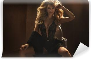 96ab3bbce9 Carta da Parati Donna sexy che indossa lingerie sensuale • Pixers® -  Viviamo per il cambiamento
