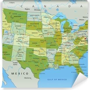 Cartina Politica Usa Da Stampare.Poster La Mappa Politica Modificabile Altamente Dettagliata Con Strati Separati Stati Uniti D America Pixers Viviamo Per Il Cambiamento