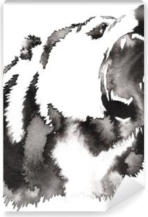 Poster La Pittura In Bianco E Nero Con Acqua E Inchiostro Disegna L