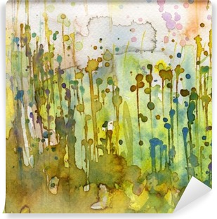 Carta da Parati Lavabile Artistico sfondo acquerello,