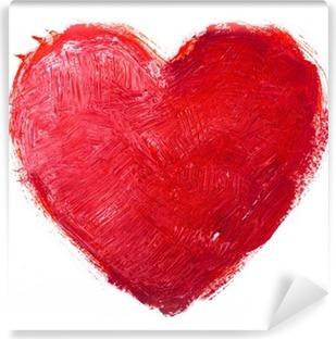 Carta da Parati Lavabile Cuore acquerello. Concept - amore, relazioni, arte, pittura