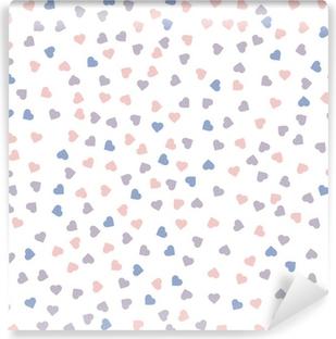 Carta da Parati Lavabile Cuore seamless. Illustrazione vettoriale. Quarzo Rosa e serenità colori.