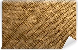 Parete Doro : Adesivo la parete in mosaico doro nel grand palace thailandia