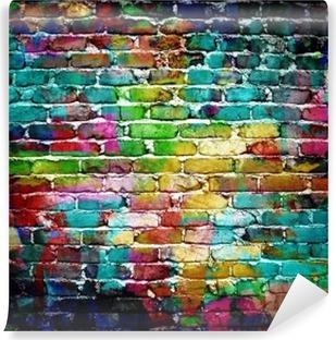 Carta da Parati Lavabile Muro di mattoni dei graffiti