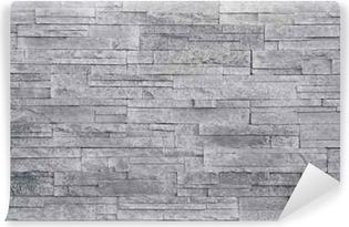 Poster Muro di pietra sfondo bianco. piastrelle di pietra impilati vengono  spesso utilizzati in decorazioni di design d interni come muro di accento. 3a97a88c4921