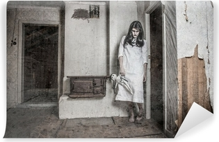 Carta da Parati Lavabile Una ragazza fantasma spaventoso