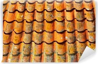 Quadro su tela vecchio tetto rosso piastrelle come sfondo u2022 pixers