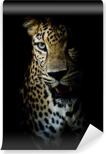Carta da Parati in Vinile Leopard ritratto