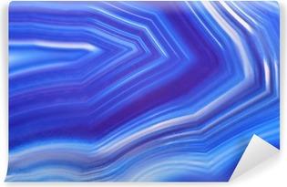 Carta da Parati in Vinile Luminoso agata blu primo piano di struttura