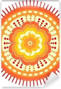 Poster Mandala Arancione Per L Energia Ottenere Pixers Viviamo