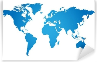 Carta da Parati in Vinile Mappa del mondo, illustrazione