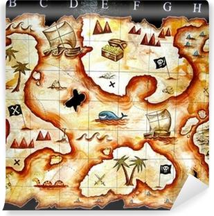 Carta da Parati in Vinile Mappa del tesoro gioco