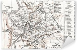 Carta da Parati in Vinile Mappa di Roma Antica