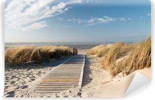 Carta da Parati in Vinile Mare del Nord spiaggia di Langeoog