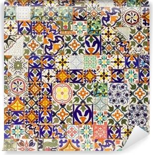 Carte da parati ceramica di caltagirone pixers for Piastrelle in vinile