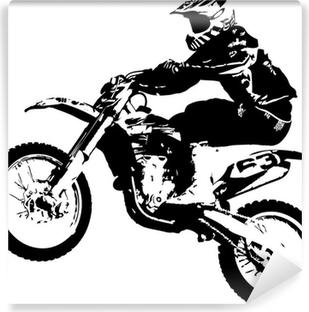Carta da Parati in Vinile Motocross ponticello