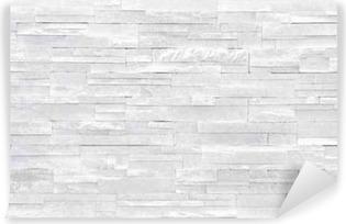 Carta da Parati in Vinile Muro di pietra sfondo bianco. piastrelle di  pietra impilati vengono 631928f586cd