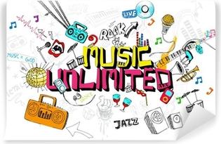 Carta da Parati in Vinile Music Unlimited
