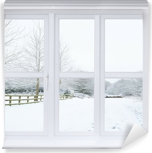 Carta da Parati in Vinile Neve Window Scene