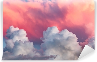 Carta da Parati in Vinile Nuvole al tramonto
