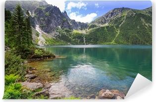 Carta da Parati in Vinile Occhio del lago mare in montagne Tatra, Polonia