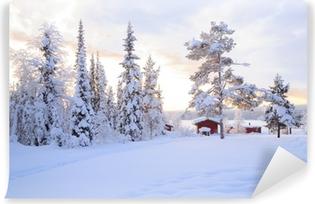 Carte da parati paesaggio invernale pixers viviamo for Carta parati vinile