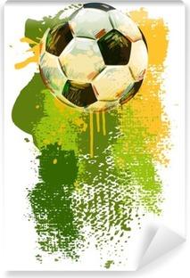 Carta da Parati in Vinile Pallone da calcio Banner .__ Tutti gli elementi sono in strati separati e raggruppati. __
