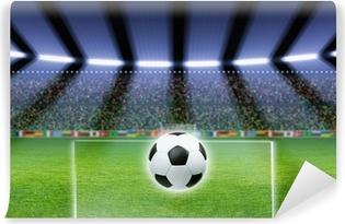 Carta da Parati in Vinile Pallone da calcio, stadio, faretti
