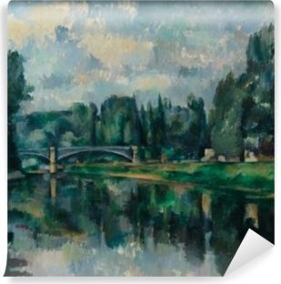 Carta da Parati in Vinile Paul Cézanne - Il rive della Marna a Creteil