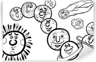 Carta Da Parati Colorare Pianeta Saturno Cartone Animato Pixers