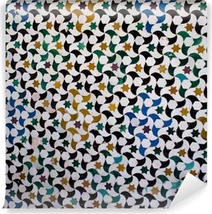 Carta da Parati in Vinile Piastrelle colorate, dallo stile arabo nel Alhambra, Granada