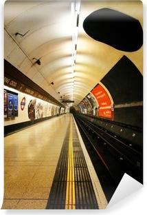 Carta da Parati in Vinile Piattaforma della metropolitana di Londra