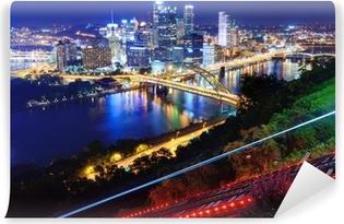 Carta da Parati in Vinile Pittsburgh Paesaggio urbano
