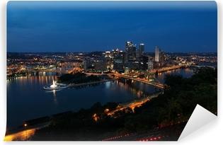 Carta da Parati in Vinile Pittsburgh, Pennsylvania, Stati Uniti d'America