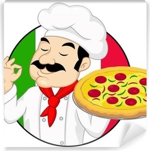 Carta da Parati Cartoon panettiere pizzaiolo di cucina • Pixers® - Viviamo  per il cambiamento dd5fe5e76e22