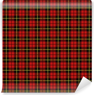 Carta da Parati in Vinile Plaid scozzese