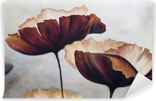 Carta da Parati in Vinile Poppy pittura astratta