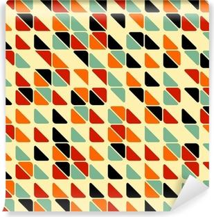 Carta da Parati in Vinile Retro modello astratto senza soluzione di continuità con i triangoli