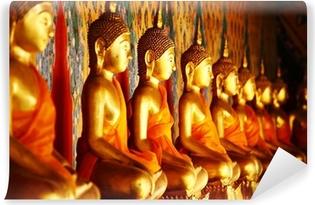 Carta da Parati in Vinile Riga della statua di buddha d'oro