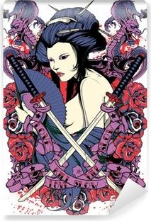 Carta da Parati in Vinile Samurai diva
