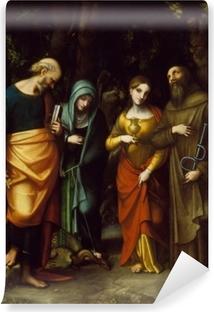 Carta da Parati in Vinile Santi Pietro, Marta, Maddalena e Leonardo