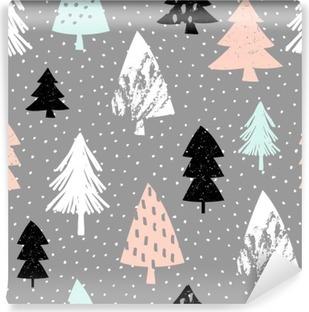 Carta da Parati in Vinile Seamless pattern di Natale