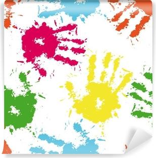 2429f445af Carta da Parati Vector seamless con stampe colorate a mano • Pixers ...