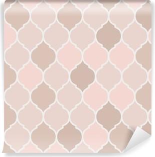 Carta da Parati in Vinile Senza soluzione di continuità piastrelle modello di colore rosa, vettore