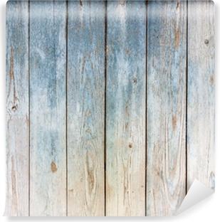 Carta da Parati in Vinile Sfondo blu d'epoca in legno