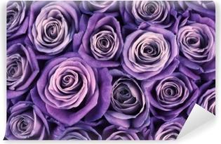 Carta da Parati in Vinile Sfondo di fiori di rosa