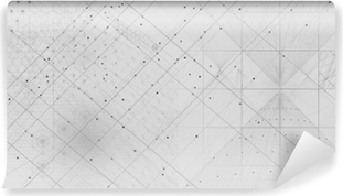 Carta da Parati in Vinile Simboli geometrici sacri ed elementi di sfondo