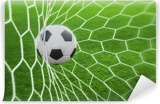 Carta da Parati in Vinile Soccer Ball in Goal