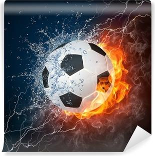 Carta da Parati in Vinile Soccer ball