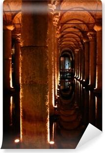 Carta da Parati in Vinile Sotterraneo palazzo cisterna di istanbul